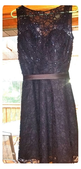 Mori Lee Dresses & Skirts - Morilee Navy Bridesmaid Dress (Lace)